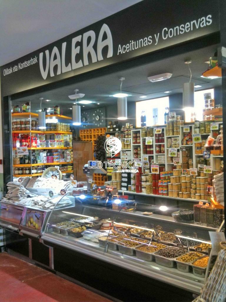 Iluminacion led alimentacion comercios Iuztecnica
