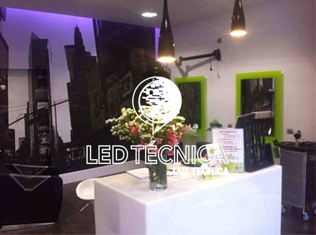 Iluminaci n led para comercios en gij n proyectos de for Iluminacion para peluquerias